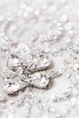 Detalle del vestido de boda — Foto de Stock