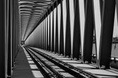 Ponte metallico ferroviario — Foto Stock