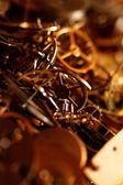Clock parts for restoration — Stock Photo