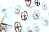 Small parts of clock — Stock Photo