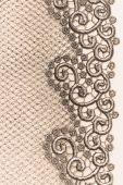 Decorative golden lace — Stock Photo