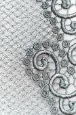 Decorative silver lace — Stock Photo