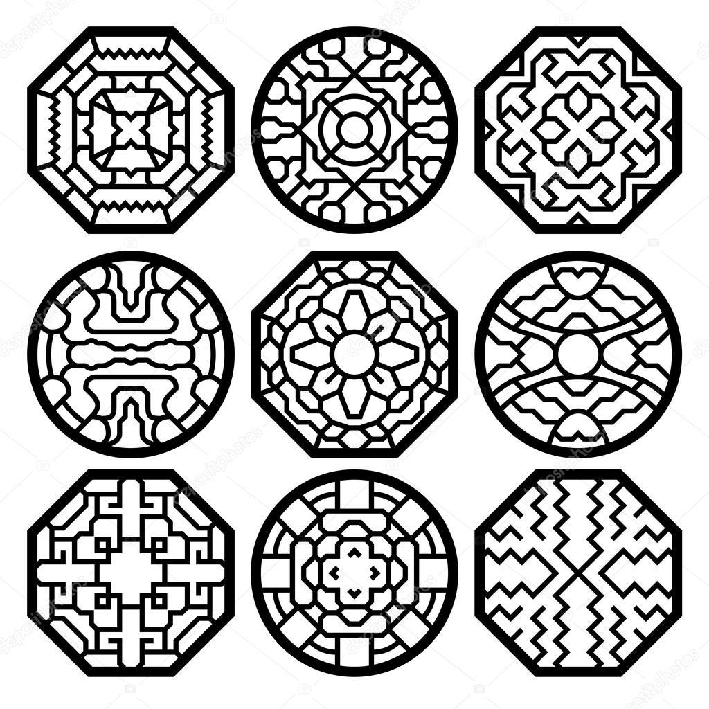 다운로드 - Chinese, korean traditional vector pattern — 스톡