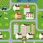 Seamless Vector Town Background Design — Stock Vector #51961611