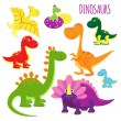 Vector icons of baby dinosaurs — Stock Vector #51963185