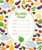 Healthy food menu template — Stock Vector