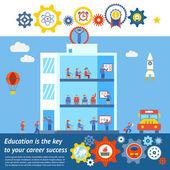 Seamless Vector Education to Success Design — Stock Vector