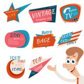 Vintage Style Retro Badges and Emblems — Stock Vector