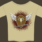 Rocker tee shirt — Stock Vector