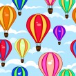 Colorful seamless pattern of hot air balloons — Stockvektor  #52536809