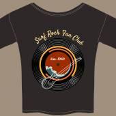 Surf Rock tee shirt — Stock Vector