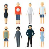 Vector Assorted People on Different Lifestyle — Stock Vector