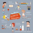 Vintage school infographics — Stock Vector #52942573