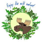 Enjoy The Wild Nature — Stock Vector
