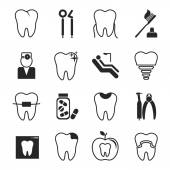 Dental icons set — Stockvektor