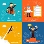 Set of businessman characters — Stock Vector