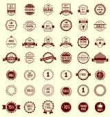 Vector Variety Designs Retro Vintage Badges — Stock Vector