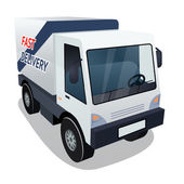 Delivery Cargo Truck Graphic on White Background — Stock Vector