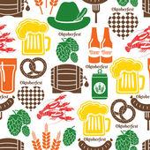 Oktoberfest pattern — Stock Vector