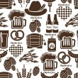 Oktoberfest seamless background pattern — Stock Vector #53899225