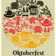 Oktoberfest Beer Festival label — Stock Vector #53899237