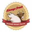 McCoil Meat Farm label - Always fresh — Stock Vector #53899879