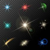 Lights, stars and sparkles — Stock Vector