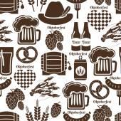 Oktoberfest seamless background pattern — Stock Vector