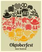 Oktoberfest Beer Festival label — Stock Vector