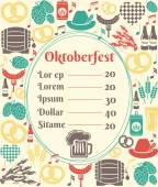 Oktoberfest menu template — Stock Vector