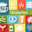 Set of vector Oktoberfest icons — Stock Vector #54294637