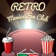 Постер, плакат: Retro Movies Fan Club poster