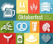 Set of vector Oktoberfest icons — Stock Vector