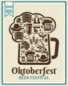 Oktoberfest Beer Festival poster — Stock Vector