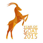 Goat New Year 2015 Sign — Stock Vector