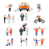 Assortment of Couple Icons — Stock Vector