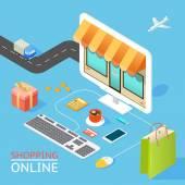 Концепция Интернет-магазина — Cтоковый вектор