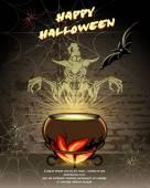 Happy Halloween vector card design — Stock Vector