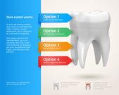 Dentistry infographics — Wektor stockowy