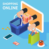 E-commerce or online shopping concept — Stockvektor