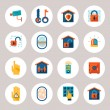 Real Estate Protection Icons — Stock Vector #55357841
