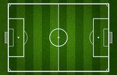 Campo di calcio — Vettoriale Stock