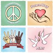 Day of Peace posters — Stock Vector