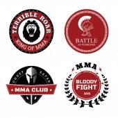 MMA Labels - Mixed Martial Arts Design — Stock Vector