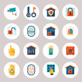 Real Estate Protection Icons — Vector de stock
