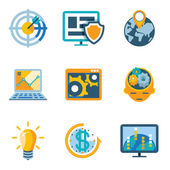 Process Automation and Increase Efficiency Icons — Stock Vector
