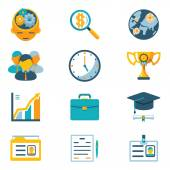 Assorted Colored Business Icons — Vettoriale Stock