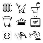 Utilities icons — Stock Vector