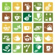 Tea Time Icons — Stock Vector #57131073