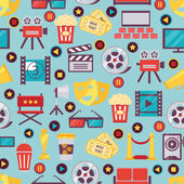Seamless Film and Cinema Background Design — Stock Vector